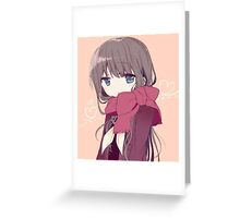 Anime Girl Greeting Card