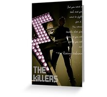 The Killers - For Reasons Unknown Greeting Card