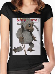 WHY ME Women's Fitted Scoop T-Shirt