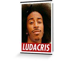 Ludacris's afro rap Greeting Card