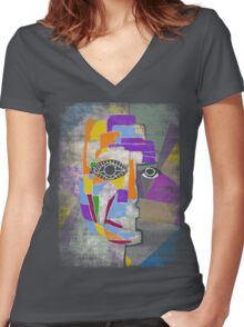 pionero Women's Fitted V-Neck T-Shirt