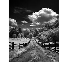 Farm Road in Infrared Photographic Print