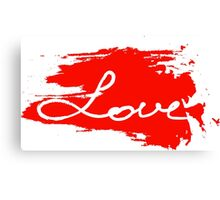 Love. Conceptual handwritten phrase Canvas Print