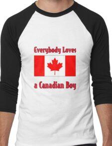 Everybody Loves a Canadian Boy Men's Baseball ¾ T-Shirt