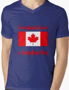 Everybody Loves a Canadian Boy Mens V-Neck T-Shirt