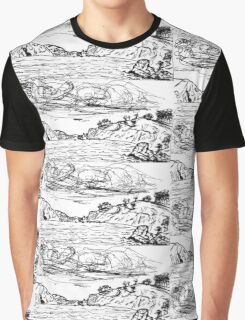 China Beach View Graphic T-Shirt