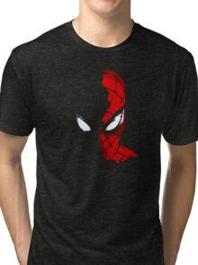 Spidey In The Shadows Tri-blend T-Shirt