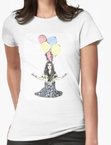 Meditating Baloons Womens Fitted T-Shirt
