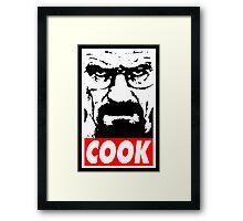 COOK Framed Print