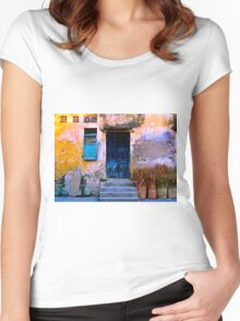 Chinese Facade of Hoi An in Vietnam Women's Fitted Scoop T-Shirt