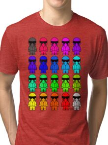 The Stig - Multi-Coloured Tri-blend T-Shirt