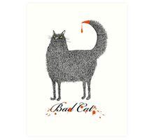 Bad Cat Art Print