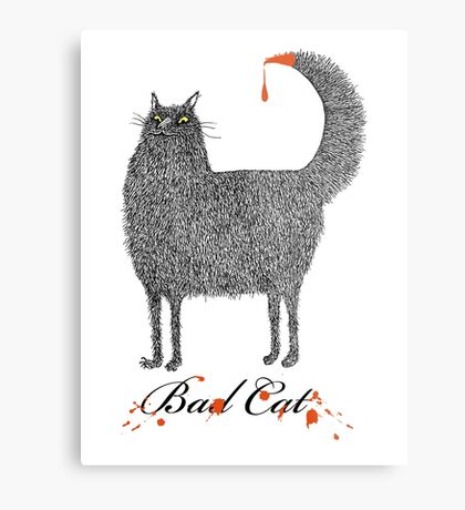 Bad Cat Metal Print