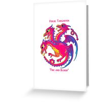 A Song of Ice and Fire and Rainbows Greeting Card