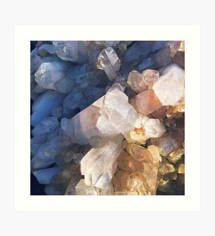 Quartz Crystal Art Print