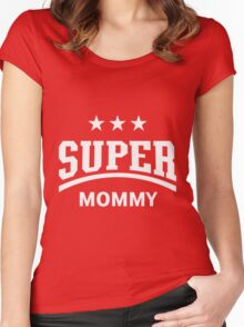 Super Mommy (White) Women's Fitted Scoop T-Shirt