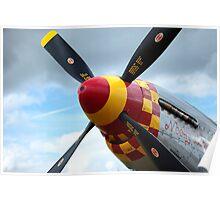 P51 propeller Poster