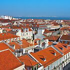 Baixa City Center of Lisbon Panoramic View by kirilart