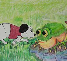 Puppy meets Frog by Monica Batiste