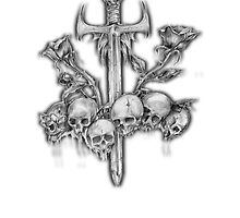 Skull and Sword by yektaersoy