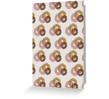 Flower-Power surface pattern Greeting Card