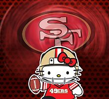 49ers Hello kitty Iphone Case by daleos
