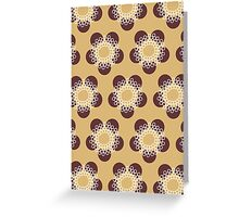 Flower Power surface pattern Greeting Card