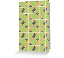 Retro Geometry surface pattern Greeting Card