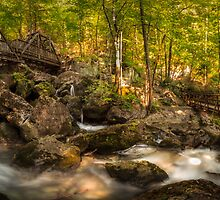 The Waterfalls at Myrafalle in Austria by Zoltán Duray
