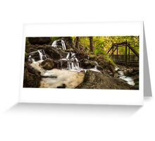 The Waterfalls at Myrafalle in Austria Greeting Card