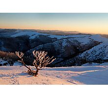 Sunset on the mountainside Photographic Print