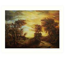 Dan Scurtu - Forest at Sunset Art Print