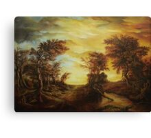 Dan Scurtu - Forest at Sunset Canvas Print