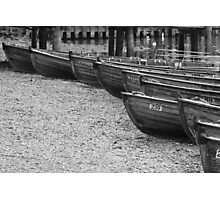 Row of Boats - Ambleside Lake District Photographic Print