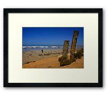 An Australian Surfing Beach Framed Print