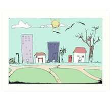 What Colour is Your Town? Art Print