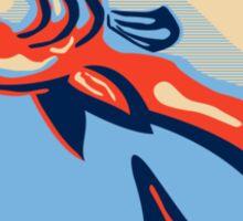 Atlantic Salmon Fish Jumping Retro Sticker