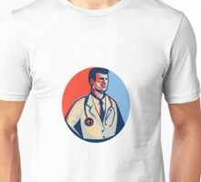Doctor Stethoscope Standing Retro Unisex T-Shirt