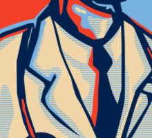 Doctor Stethoscope Standing Retro Sticker