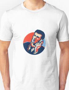 Businessman Talk Telephone Retro Unisex T-Shirt