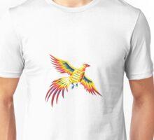 Pheasant Bird Fowl Flying retro Unisex T-Shirt