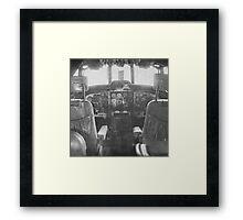 Vintage Plane Cockpit Framed Print