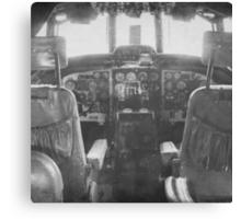 Vintage Plane Cockpit Canvas Print