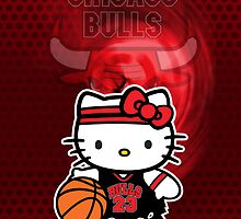Chicago Bulls Hello kitty iphone Case by daleos