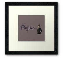 Doctor who 10th doctor- physics  Framed Print