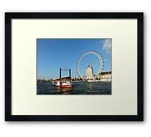 The Elizabethan, Thames River Framed Print