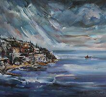 Bordighera - Rainy Morning by Stefano Popovski