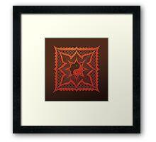 yin yang woodcut mandala (dáorashi) Framed Print