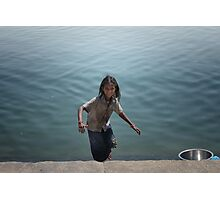 the girl who leapt up from the ghats  Photographic Print