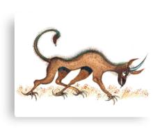 Heraldic Fantasy Creature Canvas Print